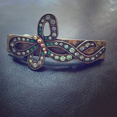 Rhinestone Barrette Beautiful barrette with different shades of blue rhinestones.  Make me an offer! Accessories Hair Accessories