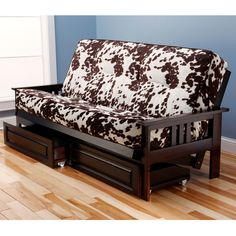 Monterey Barbados Futon in Suede Peat by Kodiak Wood Futons by