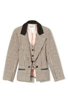 Multicolor Tweed Jacket by Decades Inc. for Preorder on Moda Operandi