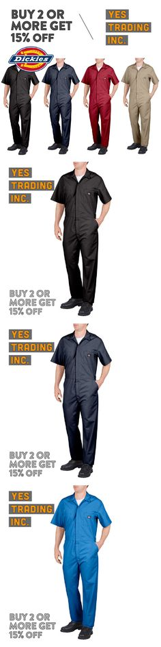 7d734932507 Other Mens Clothing 313  Dickies 33999 Mens Coveralls Short Sleeve Coverall  Mechanics Suit Jump Suit