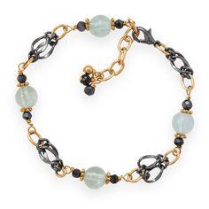 Two Tone Blue Crush Fashion Bracelet