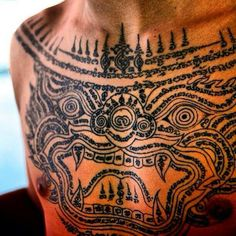 Protection khmer tattoo