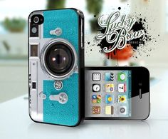 Blue Vintage Camera Retro Funny Phone Case - Apple iPhone 4 4s Hard Cover