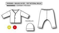 Patrones/moldes descargables en PDF e imprimibles en hoja A4 - Talles PRENATAL y RECIEN NACIDO (0) - Prenda desarrollada en algodón, con calce aprobado por un patronista/modelista profesional. Todos los patrones están previamente aprobados. Se realiza la muestra y mediante prueba de calce se asigna Modelista, Etsy, Polyvore, Fashion, Scrappy Quilts, Hand Made, Trends, Patterns, Blade