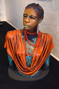 Pin by Melodie Holliday on Woodrow Nash Sculptures Pottery Sculpture, Sculpture Clay, Afro, African Sculptures, Beauty In Art, African American Artist, Music Artwork, Black Artists, African Fashion