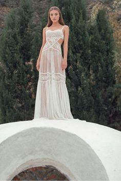 f90c56e1f8 Lace Nightgown with Original Cutout Design  boudoirlingerie   seethroughlingerie  honeymoonlingerie Wedding Lingerie