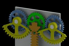 Reciprocating mechanism with 2 segmented gears - STEP / IGES,STL,SOLIDWORKS,Parasolid - 3D CAD model - GrabCAD