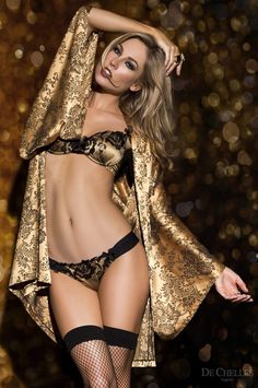 the world of spandex — aurora-nordstern:   #lingerie #gold #yellow #De...