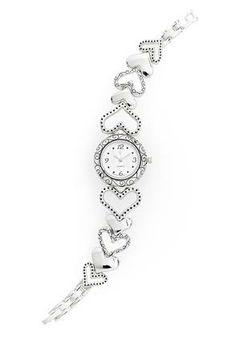 Cato Fashions Heart Bracelet Watch #CatoFashions