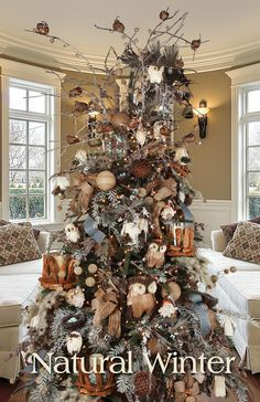 Melrose Designer Christmas Tree 2013: Natural Winter. I like the colors and some…