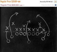 FLASH SALE til MIDNIGHT Chalkboard Football Play by shawnstpeter