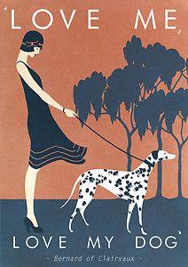 Vintage 1920's / 1930's Fashion Vogue Love Me | Love My Dog