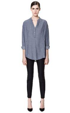 520b4e7da85d7 Finally copped some faux leather skinny jeans. via Zara. Leather Jeggings,  Comfy Pants