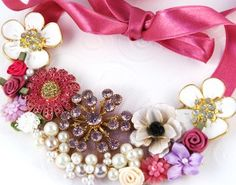 Clustered Jewel Bib Necklace