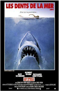"""Affiche pour """"Les dents de la mer"""" [Steven Spielberg, 1975]"""
