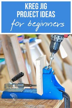 A Kreg Jig makes building furniture extremely easy for newbie woodworkers! Here are 39 easy beginner-friendly Kreg Jig project ideas to inspire you! #kregjig #woodworking #AnikasDiyLife Kreg Jig Projects, Scrap Wood Projects, Diy Furniture Projects, Easy Diy Projects, Project Ideas, Woodworking Projects That Sell, Beginner Woodworking Projects, Woodworking Ideas, Building Furniture