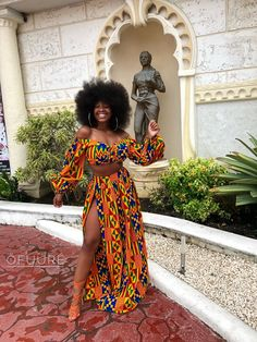 Items similar to African Print/ Ankara Jumpsuit/ African Clothing/ Ankara Print on Etsy Ankara Rock, Ankara Crop Top, Maxi Skirt Crop Top, Ankara Skirt, Printed Maxi Skirts, Slit Skirt, Ankara Jumpsuit, Ankara Fabric, African Fabric