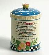 Mary Engelbreit Recipe for Happiness Cookie Jar