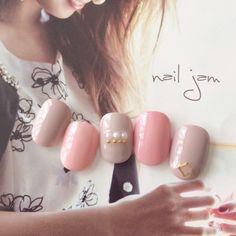 ネイル(No.1969110)|パール |オフィス |パーティー |春 |グレージュ |スモーキー |ピンク |バレンタイン |ジェルネイル |ワンカラー |ハンド |チップ |ショート | かわいいネイルのデザインを探すならネイルブック!流行のデザインが丸わかり!