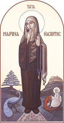 st. marina the nun . ( by guirguis t boktor)
