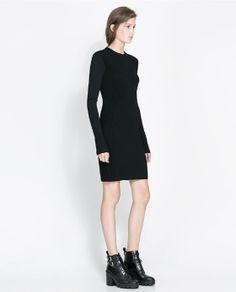 So 90s... I love it. ZARA - WOMAN - RIBBED DRESS