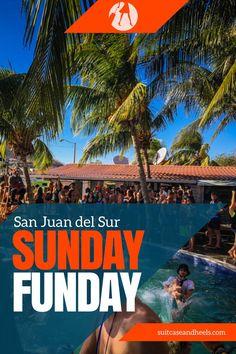 Sunday Funday in San Juan del Sur, Nicaragua. Travel in Central America.