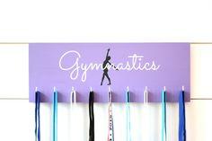 Gymnast Medal Holder / Display Gymnastics by YorkSignShop on Etsy Gymnastics Medal Holder, Gymnastics Party, Gymnastics Crafts, Gymnastics Supplies, Gymnastics Stuff, Gymnastics Quotes, Gymnastics Posters, Gymnastics Bedroom, Baile Jazz