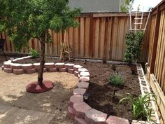 diy retaining walls flush up to an existing fence - Yahoo Image Search Results