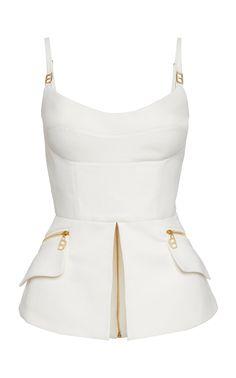Branded Cotton Peplum Top by Brandon Maxwell Green Fashion, Look Fashion, Fashion Outfits, Womens Fashion, Fashion Design, Fashion Trends, 50 Fashion, Fashion Styles, Cheap Fashion