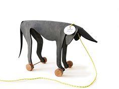 Leather Pull Toy by Ellen Heilmann