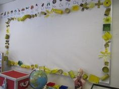 "Really neat ""Recycled"" bulletin board for any science classroom!"