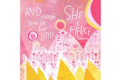 Oopsy Daisy 'She Is Fierce' by Kathy Weller Canvas Wall Art - 18 x 18 x Pink Motivational Messages, Inspirational Quotes, Unique Quotes, Thing 1, She Is Fierce, Pretty In Pink, Canvas Wall Art, Decir No, Positive Quotes