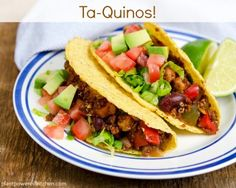 Looking for a fabulous easy meal that the whole family will love? Try these Vegan Quinoa Tacos. They are packed with nutrition and kid-friendly. Vegan Quinoa Recipes, Vegan Foods, Veggie Recipes, Mexican Food Recipes, Whole Food Recipes, Vegetarian Recipes, Cooking Recipes, Healthy Recipes, Healthy Dinners