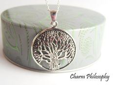 Tree of Life Necklace in 925 Sterling Silver - Tree Pendant - Tree of Life Jewelry