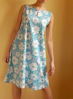 Vintage sheet dress by mame*, via Flickr