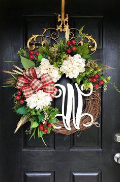 NEW Christmas Wreaths for Front Door Front Door by FleursDeLaVie