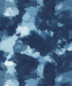 Autumn Path Wallpaper - Indigo, Roll