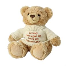 Personalised Teddy Bear with Jumper Give the recipient a thoughtful and heartfelt gift with this personalised bear, not only for their special occasion or celebration, but for them to have as a beautiful keepsake to treasure forever! Pe http://www.comparestoreprices.co.uk/personalised-gifts/personalised-teddy-bear-with-jumper.asp