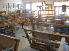 I have the looms, I need the space.  Weaving Studio
