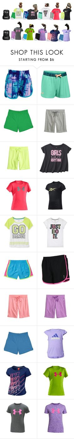 """Cheer -Stones"" by our-poly-friends ❤ liked on Polyvore featuring Under Armour, C9 by Champion, Reebok, NIKE and adidas"