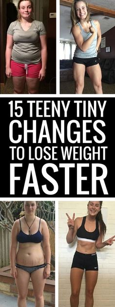 All you have to do to lose weight is to make one or two small changes to your daily routine - you'll see drops in your weight- and fast!