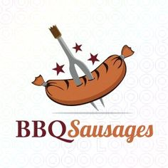 Exclusive Customizable Sausage Logo For Sale: Bbq Sausages | StockLogos.com