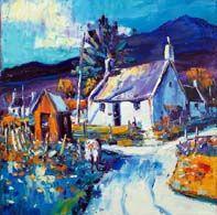 Old Post House, Glen Clova Glen Clova, Colorbox, Vibrant Colors, Colours, Oil On Canvas, Landscape, Gallery, House, Painting