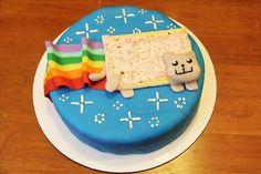 Nyan Cat Cake! :) by Rosanna Pansino on Nerdy Nummies, YouTube