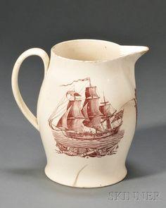 Liverpool Pottery Creamware Jug