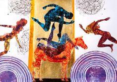 "Saatchi Art Artist Katarzyna Kopanska; Painting, ""Red horse - from the series Platonic Solids"" #art"