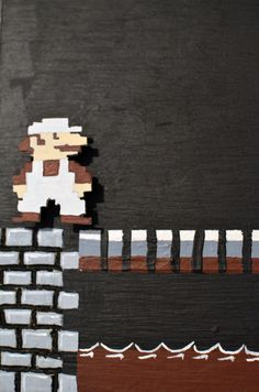 Super Mario Bros. wood painting. From @Etsy, $1000