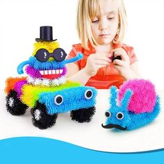Creative 400pcs/Set Assemble 3D Puzzle Puff Ball Squeezed Ball Thorn Ball Clusters Handmade Educational Toys Children's gift