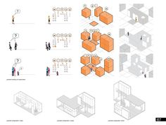 Gallery of Micro Housing Ideas Competition 2013 Winners Announced - 12 Image 12 of 13 from gallery of Micro Housing Ideas Competition 2013 Winners Announced. Place - SAC – Studio de Arquitectura y Ciudad (Queretaro, Mexico) Architecture Concept Diagram, Conceptual Architecture, Education Architecture, Architecture Graphics, Architecture Portfolio, Architecture Drawings, Architecture Design, Architecture Diagrams, Landscape Architecture