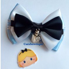 Alice Inspired hair bow from Alice in Wonderland by CutzBowtique